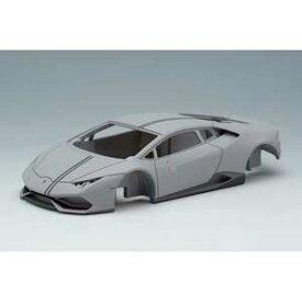 1/43 Lamborghini Huracan LP610-4 AVIO 2016 マットライトグレー/グレーストライプ【EM344E】 メイクアップ