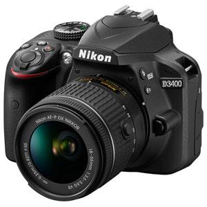 【500円クーポン9/26am1:59迄】D3400LKBK ニコン デジタル一眼レフカメラ「D3400」18-55 VR レンズキット(ブラック)