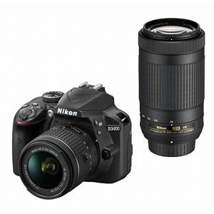 【エントリーでP5倍 8/20 9:59迄】D3400WZBK ニコン デジタル一眼レフカメラ「D3400」ダブルズームキット(ブラック)