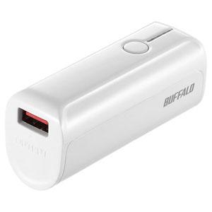 BSMPB3301P1WH バッファロー スマートフォン/タブレット用 モバイルバッテリー AUTO POWER SELECT搭載 3350mAhタイプ(ホワイト) [BSMPB3301P1WH]【返品種別A】