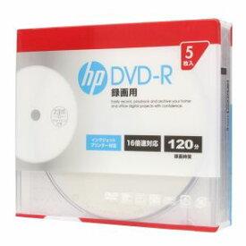 DR120CHPW5A ヒューレット・パッカード 16倍速対応DVD-R 5枚パック 120分 ホワイトワイドプリンタブル