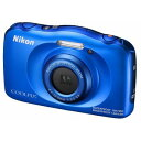 W100BL【税込】 ニコン デジタルカメラ「COOLPIX W100」(ブルー) [W100BL]【返品種別A】【送料無料】【RCP】