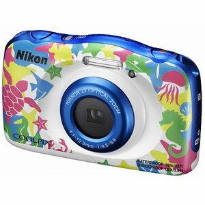 W100MR ニコン デジタルカメラ「COOLPIX W100」(マリン)
