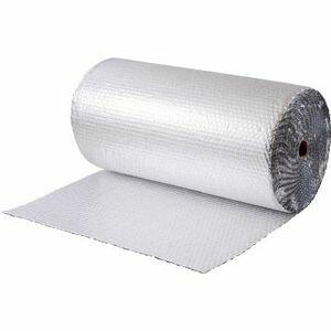 10440 川上産業 アルミプチ Wプチ242Lアルミ箔B 1200X42 ロール(1本/袋) 気泡緩衝材(エアキャップ)