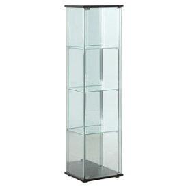 96046 不二貿易 ガラスコレクションケース 4段(背面ミラー付き) TMG-G21 [96046フジボウエキ]