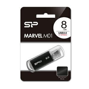 SP-UFD8GBBK3 シリコンパワー USB3.0/2.0対応 USBフラッシュメモリ 8GB(ブラック) Marvel M01 [SPUFD8GBBK3]【返品種別A】