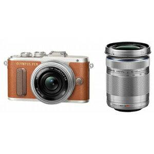 E-PL8 WZKIT(ブラウン) オリンパス デジタル一眼カメラ「PEN Lite E-PL8」ダブルズームキット(ブラウン) [EPL8WZKITブラウン]【返品種別A】