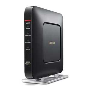 WSR-2533DHP-CB バッファロー 11ac対応 1733+800Mbps 無線LANルータ(クールブラック)(親機単体) [WSR2533DHPCB]【返品種別A】【送料無料】