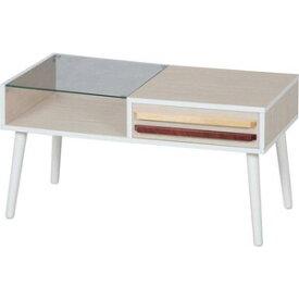 10033 不二貿易 リビングテーブル オスロ(ホワイト) HH-8040PG