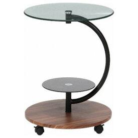 96699 不二貿易 ガラスラウンドテーブル マーブル(ダークブラウン) ROMA-1