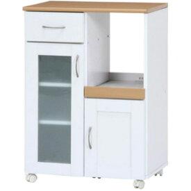 96818 不二貿易 キッチンカウンター サージュ(ホワイト/ナチュラル)60幅 SAGE