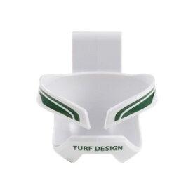 T_D TDBC-1672 WH/GN 朝日ゴルフ TURF DESIGN ゴルフボールホルスター(WHITE/GREEN) TURF DESIGN