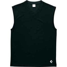 CB251325-1900-S コンバース ノースリーブシャツ(ブラック・サイズ:S) CONVERSE
