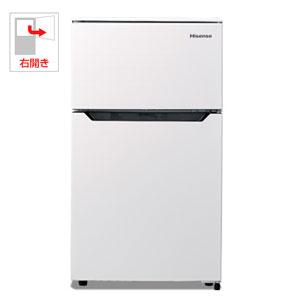 (標準設置料込)HR-B95A ハイセンス 93L 2ドア冷蔵庫(直冷式)ホワイト【右開き】 Hisense