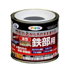 タイキユウテツブ1/5L GY アサヒペン 油性高耐久鉄部用 1/5L(グレー)