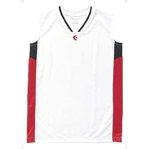 CB64701-1164-150 コンバース ジュニア用(ガールズ)ゲームシャツ(ホワイト/レッド・150) CONVERSE