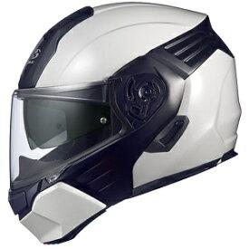 KAZAMI-WMBK-M OGKカブト システムヘルメット(ホワイトメタリック/ブラック [M]) KAZAMI