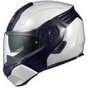 KAZAMI-WMBK-L OGKカブト システムヘルメット(ホワイトメタリック/ブラック [L]) KAZAMI
