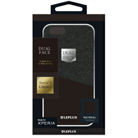 LP-XPXCLDSBK MS Products Xperia X Compact(SO-02J)用 アルミバンパー+PUレザーシェルケース「DUAL FACE Shell」ブラック LEPLUS(ルプラス)