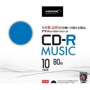 TYCR80YMP10SC HIDISC 音楽用CD-R 700MB 10枚パック [TYCR80YMP10SC]【返品種別A】
