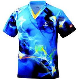 NT-NW2162-09-SS ニッタク 卓球用ウェア(男女兼用・ジュニア)(ブルー・SSサイズ) Nittaku スカイマジカルシャツ