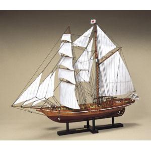 1/70 木製帆船模型 忍路丸 ウッディジョー [UD 1/70 オショロマル]【返品種別B】