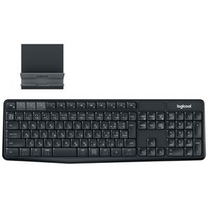 K375S ロジクール マルチデバイス ワイヤレス キーボード スタンドセットモデル ブラック/グレー K375s Multi-Device Bluetooth Keyboard + Stand combo [K375S]【返品種別A】
