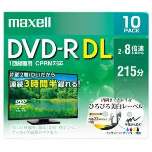 DRD215WPE.10S マクセル 8倍速対応DVD-R DL 10枚パック8.5GB ホワイトプリンタブル [DRD215WPE10S]【返品種別A】