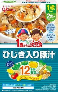 1歳からの幼児食 ひじき入り豚汁 170g(85g×2袋) (1歳から) 江崎グリコ ヨウジヒジキイリトンジル85GX2