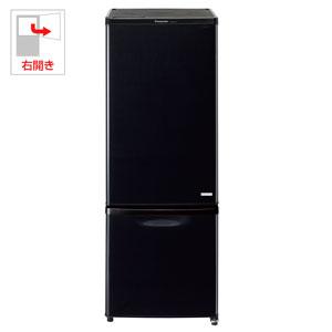 NR-BW179C-K パナソニック 168L 2ドア冷蔵庫(ブラック)【右開き】 Panasonic NR-B179W のJoshinオリジナルモデル [NRBW179CK]【返品種別A】(標準設置料込)