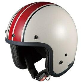 FOLKG1-WHRD OGKカブト ストリートジェットヘルメット カラーリング(ホワイトレッド 57-59cm) FOLK G1
