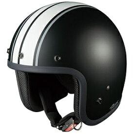 FOLKG1-BKWH OGKカブト ストリートジェットヘルメット カラーリング(フラットブラックホワイト 57-59cm) FOLK G1