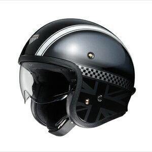 【エントリーでP5倍 8/20 9:59迄】J・O HAWKER-BKSIL-M SHOEI ストリートジェットヘルメット(TC-5(ブラック/シルバー)[M]) J・O HAWKER
