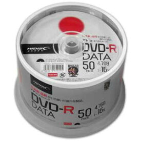 TYDR47JNP50SPMG HIDISC データ用 16倍速対応DVD-R 50枚パック 4.7GB ワイドプリンタブル