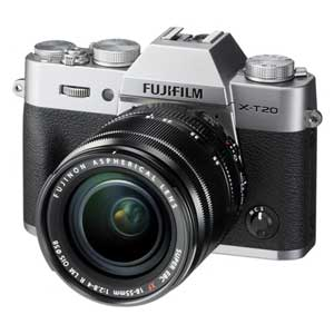 F X-T20LK-S 富士フイルム ミラーレスデジタルカメラ「X-T20」レンズキット(シルバー) [FXT20LKS]【返品種別A】