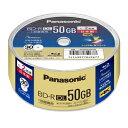 LM-BRS50P30 パナソニック 2倍速対応BD-R DL 30枚パック50GB ホワイトプリンタブル [LMBRS50P30]【返品種別A】