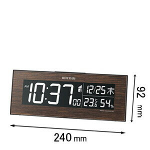 8RZ180SR06 リズム時計 デジタル電波時計 Iroria(イロリア) [IRORIAW8RZ180SR06]【返品種別A】