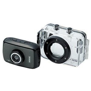 ACAM-H01SBK エレコム 【Joshin web限定 microSDHCメモリーカード 16GB付き】アクションカメラ「HD」 [ACAMH01SBK]【返品種別A】