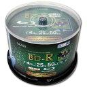 LR4-50P【税込】 lazos 4倍速対応BD-R 50枚パック 25GB ホワイトプリンタブル [LR450P]【返品種別A】【RCP】