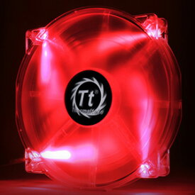 CL-F032-PL20RE-A Thermaltake PCケースファン Pure 20 LED/Fan/200mm/800rpm/Black/LED Red