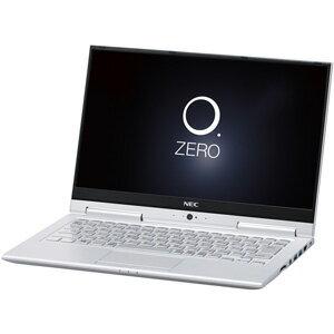 PC-HZ350GAS NEC 13.3型 2-in-1 ノートパソコンLAVIE Hybrid ZERO HZ350/GAシリーズムーンシルバー (Office Home&Business Premium プラス Office 365) [PCHZ350GAS]【返品種別A】