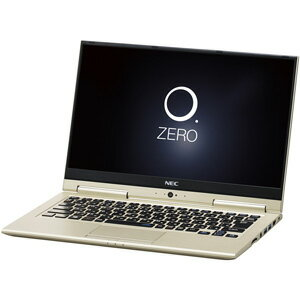 PC-HZ350GAG NEC 13.3型 2-in-1 ノートパソコンLAVIE Hybrid ZERO HZ350/GAシリーズプレシャスゴールド (Office Home&Business Premium プラス Office 365) [PCHZ350GAG]【返品種別A】