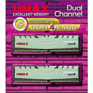 DCDDR4-2400-16GBHS UMAX PC4-19200(DDR4-2400)288pin DIMM 16GB(8GB×2) [DCDDR4240016GBHS]【返品種別B】【送料無料】