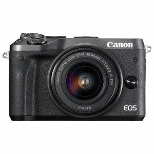 EOSM6BK-1545ISSTMLK キヤノン ミラーレスカメラ「EOS M6」EF-M15-45 IS STMレンズキット(ブラック) [EOSM6BK1545ISSTMLK]【返品種別A】