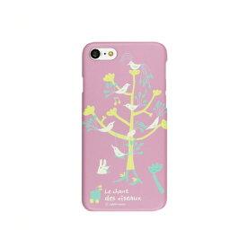 HM8222I7 Happymori iPhone 8/ 7用 ケース バードツリー(パープル) Bird Tree