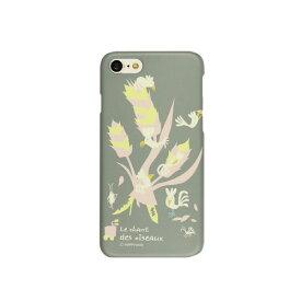 HM8223I7 Happymori iPhone 8/ 7用 ケース バードツリー(グレー) Bird Tree
