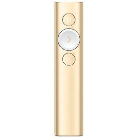 R1000GD ロジクール 2.4GHzワイヤレス/Bluetooth Smart接続対応 プレゼンテーション リモート(ゴールド) logicool Spotlight(スポットライト)