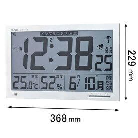 W-602WH ノア精密 電波置き掛け兼用時計 MAG エアサーチメルスター [W602WH]【返品種別A】