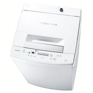 (標準設置料込)AW-45M5-W 東芝 4.5kg 全自動洗濯機 ピュアホワイト TOSHIBA [AW45M5W]【返品種別A】