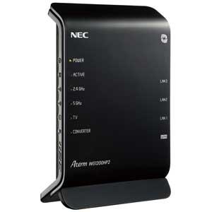 PA-WG1200HP2 NEC 11ac対応 867+300Mbps 無線LANルータ(親機単体) [PAWG1200HP2]【返品種別A】